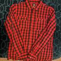 Nike Shirts   Nike Long Sleeve Button Down Shirt   Color: Black/Red   Size: M