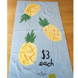 Kate Spade Bath | Kate Spade Pineapple Beach Lounge Towel | Color: Blue/Yellow | Size: 40 X 70