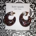Kate Spade Jewelry | Kate Spade Multi Color Sparkly Hoop Earrings | Color: Gold/Red | Size: Os