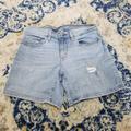 Levi's Shorts | Levi'S Mid-Rise Light Denim Distressed Jean Shorts | Color: Blue | Size: 28
