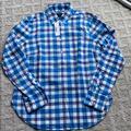 J. Crew Tops   J.Crew Womens Popover Shirt. Ls Button Down - 0   Color: Blue/White   Size: 0