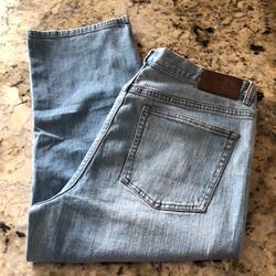 Ralph Lauren Jeans | Lrl Lauren Jeans Co. Blue Denim Capris Size 14 | Color: Blue | Size: 14