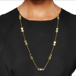 Kate Spade Jewelry | Kate Spade Take A Bow Necklace | Color: Gold | Size: Os