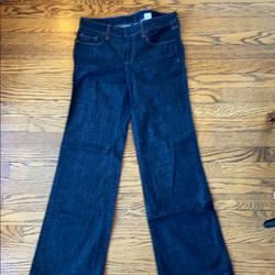 J. Crew Jeans | J.Crew Wide Leg Flare Dark Denim Jeans Size 4 | Color: Blue | Size: 4