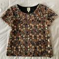 Anthropologie Tops | Made In San Francisco Multi-Colored Knit Top S | Color: Black | Size: S