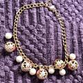 Kate Spade Jewelry   Kate Spade Flower And Pearl Ball Necklace   Color: Gold/Pink/White   Size: Os