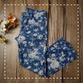 Ralph Lauren Jeans   Lauren Jeans Co. Petite Floral Garden Denim Jean   Color: Blue/Cream   Size: 4p