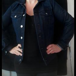 Jessica Simpson Jackets & Coats | Dark Denim Jean Jacket By Jessica Simpson | Color: Blue | Size: S