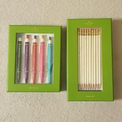 Kate Spade Office | Kate Spade Bundle Of Pen And Pencil Set | Color: Gold/White | Size: Os