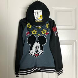 Disney Other | Mickey Mouse 90 Year Anniv Jacket W Hood And Hat | Color: Black | Size: Size 7 Jacketone Size Hat