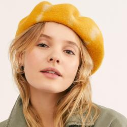 Free People Accessories | Free People Static Tie Dye Beret | Color: Orange/Yellow | Size: Os