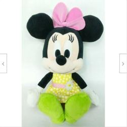 Disney Bedding | Disney Minnie Mouse Yellow Floral Plush 13 | Color: Pink/Yellow | Size: 13