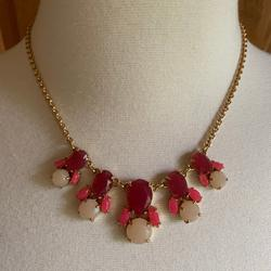 Kate Spade Jewelry   Kate Spade - Frontal Necklace - Excellent Cond.   Color: Red   Size: 17 Length