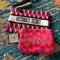 Victoria's Secret Makeup | Bnwt Vs Make Up Bag And Small Dabney Lee Bag | Color: Black/Pink | Size: Os