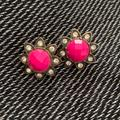 Kate Spade Jewelry | Kate Spade Pink And Crystal Vintage Gold Earrings | Color: Gold/Pink | Size: Os