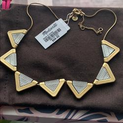 Madewell Jewelry   Madewell 2 Tone Aztec Print Necklace   Color: Gold/Silver   Size: Os