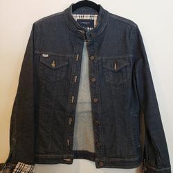 Burberry Jackets & Coats | Classic Plaid Women'S Burberry Jean Jacket | Color: Blue | Size: 8