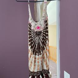 Free People Swim | Free People Swimsuit Coverup | Color: Brown/Cream | Size: M