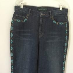 Ralph Lauren Jeans | Lauren Jeans Co. Ralph Lauren Beaded Jeans 14 | Color: Blue | Size: 14