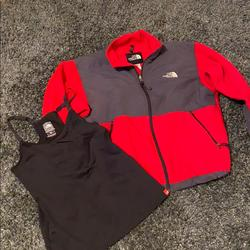 The North Face Jackets & Coats | North Face Fleece With Free North Face Tang Top! | Color: Gray/Red | Size: Various