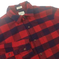 J. Crew Shirts   J. Crew Sewn For J. Crew Men Classic Flannel Shirt   Color: Black/Red   Size: S