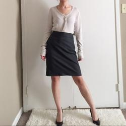 J. Crew Skirts | J.Crew Grey Wool Blend Pencil Suiting Career Skirt | Color: Gray | Size: 4