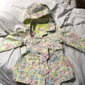 Jessica Simpson Jackets & Coats | Jessica Simpson 4 Lime Animal Print Raincoat Worn1 | Color: Green/Pink | Size: 4g