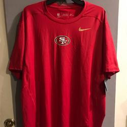 Nike Shirts   Nike San Francisco 49er Hypercool T-Shirt Sz Xxl   Color: Black/Red   Size: Xxl