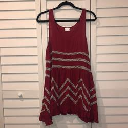 Free People Dresses | Free People Intimately Swimsuit Coverup Dress Tank | Color: Cream/Red | Size: M