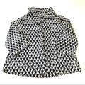 Lilly Pulitzer Jackets & Coats | Lilly Pulitzer Navy White Geometric Button Jacket | Color: Blue/White | Size: Xs