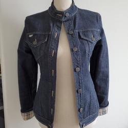 Burberry Jackets & Coats | Burberry Denim Jean Jacket | Color: Blue | Size: 2