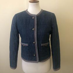 J. Crew Jackets & Coats | J Crew Denim Short Jacket Coat Sz 6 | Color: Blue | Size: 6