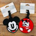 Disney Other | Mickey Mouse And Micky & Minnie Luggage Id Tag | Color: Black/Red | Size: Os