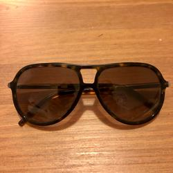 Burberry Accessories   Burberry Tortoise Aviator Sunglasses   Color: Brown   Size: Os