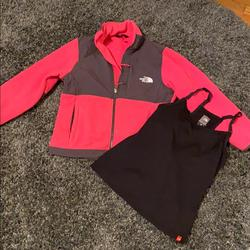 The North Face Jackets & Coats | North Face Fleece With Free North Face Tang Top! | Color: Gray/Pink | Size: S