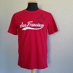 Disney Shirts   Disney Store Mickey San Francisco Red T-Shirt Tee   Color: Red/White   Size: M