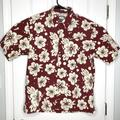 Columbia Shirts   Columbia Mens Size M Floral Hawaiian Shirt   Color: Cream/Red   Size: M
