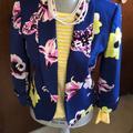 J. Crew Jackets & Coats | Jcrew Floral Jacket | Color: Blue | Size: 4