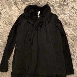 Lululemon Athletica Jackets & Coats | Lululemon Womens 6 Crossover Poncho Jacket | Color: Black | Size: 6