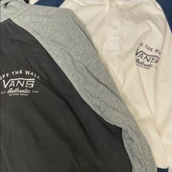 Vans Shirts & Tops   Blue And White Gray And Black Vans Hoodies   Color: Blue/Gray   Size: Xlb