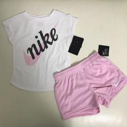 Nike Matching Sets | Nike Cute Girl Shorts Set Top Baby Pink | Color: Pink | Size: Various