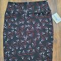 Lularoe Skirts | Lularoe Cassie Skirts Size L - Nwt | Color: Black/Red | Size: L