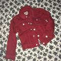 Polo By Ralph Lauren Jackets & Coats | Kids Red Jean Jacket | Color: Red | Size: 4tg