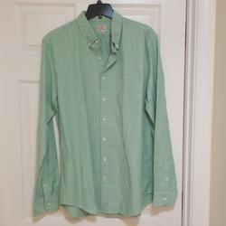 J. Crew Shirts | J. Crew Oxford Classic Cotton Buttondown Shirt Xlt | Color: Green | Size: Xl Tall