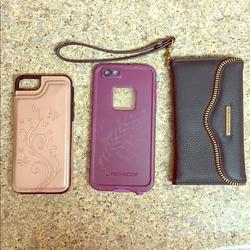 Rebecca Minkoff Accessories   Lot Of 3 Iphone 7 Cases   Color: Black/Pink   Size: Os