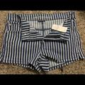 American Eagle Outfitters Shorts | Nwt American Eagle High-Waisted Denim Short Shorts | Color: Blue/White | Size: 8