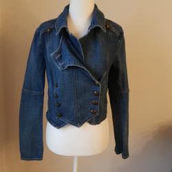 Free People Jackets & Coats   Free People Denim Jean Jacket   Color: Blue   Size: Xs