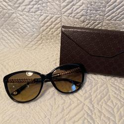 Gucci Accessories   Gucci Black And Gold Sunglasses   Color: Black/Gold   Size: Os