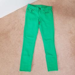 J. Crew Jeans | J.Crew Jeans 27 Tall Toothpick Ankle Green Denim | Color: Green | Size: 27