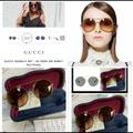 Gucci Accessories   Gucci Gold Glitter Sunglasses   Color: Gold/Silver   Size: 56mm-22mm-140mm